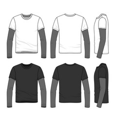 t-shirt with layered sleeve vector image vector image