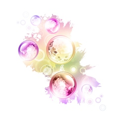 abstract summer decorationwers vector image vector image
