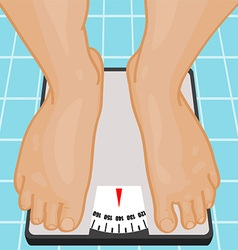 Bathroom scales vector image