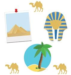 Egypt icon set vector image vector image