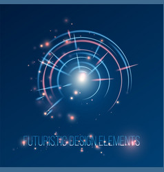 hud futuristic abstrac background design elements vector image