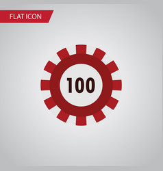 isolated chip flat icon poker element can vector image