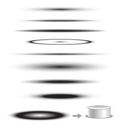 Object Shadow Collection vector image