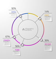 Pie chart infographics element vector image vector image