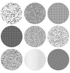 Set Texture Circle vector image vector image