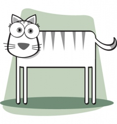 square animal bw cat vector image