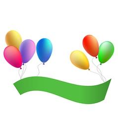 Balloons with a congratulation tape vector image vector image