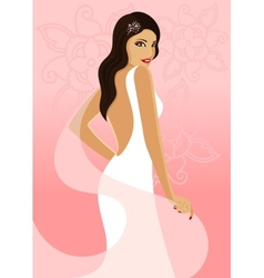 Bride on a pink background vector image vector image