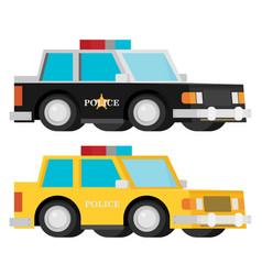 police car set flat vector image vector image