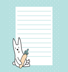 rabbit pad vector image