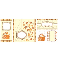 Set of autumn banners vector image vector image
