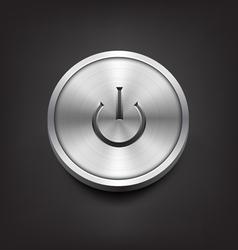 Metal Power Button vector image vector image
