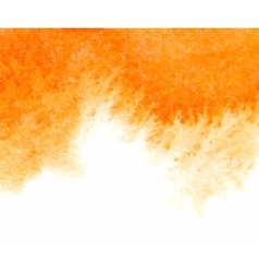 Orange abstract watercolor textured vector image