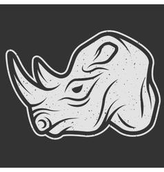 Rhino symbol logo for dark background vector