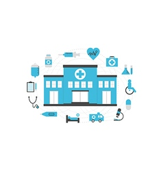 204hospital isolated icon vector image