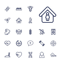 22 life icons vector