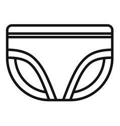 Absorbing diaper icon outline style vector