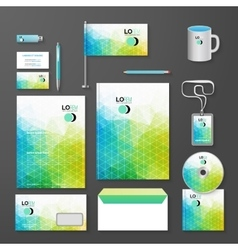 Abstract Corporate identity template vector