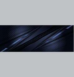 Abstract dark navy background with modern shape vector