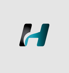 abstract letter h logo design template vector image