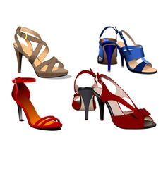 al 0533 shoes vector image
