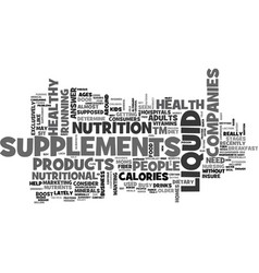 Are liquid supplements right for your healthy vector