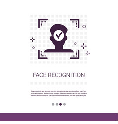 Biometric identification concept web banner with vector