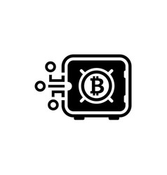 bitcoin safe box icon vector image