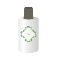 Bottle mockup with decorative sticker vector