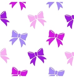 Bows on white background vector