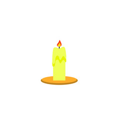 candle in the color halloween fire icon vector image