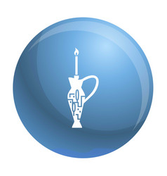 candle stick and jug jewish icon simple style vector image