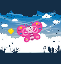 Cartoon butterfly vector