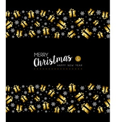 christmas and new year gold holiday pattern vector image