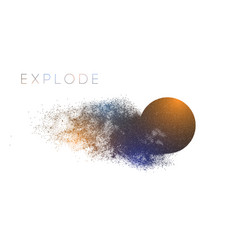 Circle explosion with abstract burst vector