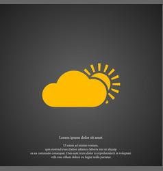cloud with sun weather icon simple gardening vector image