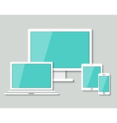 computer laptop tablet and smart phone vector image