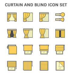 curtain blind and interior decoration material vector image