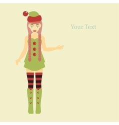 Cute Santa Helper vector image