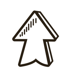 Direction arrow up abstract icon isolated vector