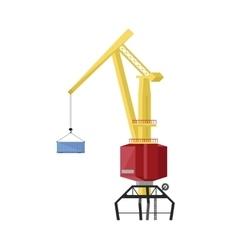 Dockside crane icon vector