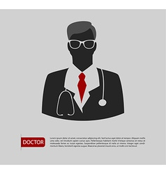Doctor man icon 2 colors vector