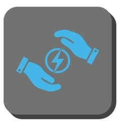 Electric Energy Insurance Hands Rounded Square vector