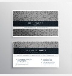 Elegant gray business card design with pattern vector