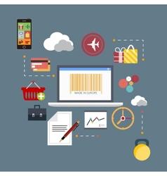 Flat scheme web analytics information vector