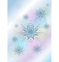 Flickering background with snowflakes and a circle vector