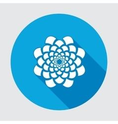 Flower icon Dahlia aster daisy chrysanthemum vector image