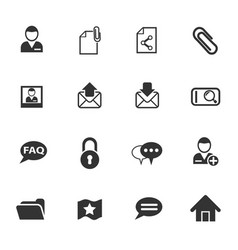 Forum interface icon set vector