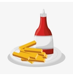 French fries of fast food concept vector