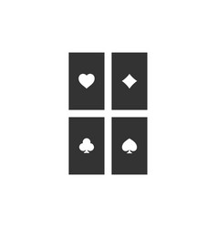 game cards icon flat vector image